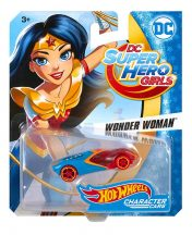 Hot Wheels DC Super Hero Girls karakter kisautók - WONDER WOMAN