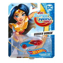 Hot Wheels DC Super Hero Girls karakter kisautók - WONDER WOMAN