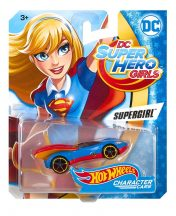 Hot Wheels DC Super Hero Girls karakter kisautók - SUPERGIRL