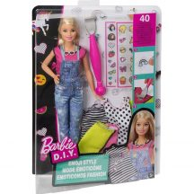 Barbie D.I.Y. Emoji ruhatervező baba - SZŐKE HAJÚ