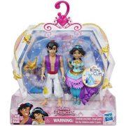 Disney Hercegnők - Jázmin és Aladdin öltöztethető mini figuraszett (9 cm)