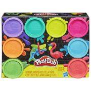 Play-Doh Tégelyes gyurmakészlet (8db-os) - Neon