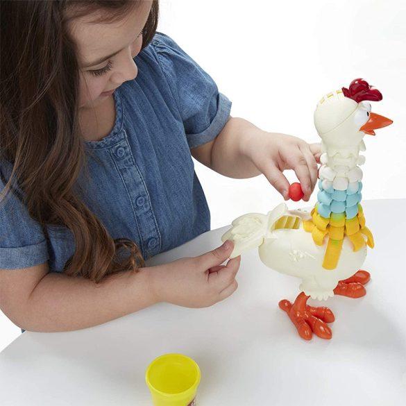 Play-Doh Animal Crew - Cluck-A-Dee színes nyakú csirke gyurmaszett