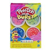 Play-Doh Színbomba készlet - Neon színek (rózsaszín, zöld, kék, barack)