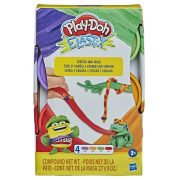 Play-Doh Elastix nyúlós gyurma készlet (4db-os - Piros, zöld, narancssárga, lila)