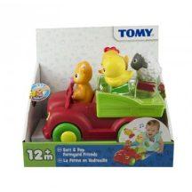 TOMY Zenélő kisautó állatfigurákkal