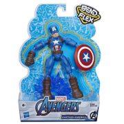 Marvel Bosszúállók Bend & Flex játék figura - Amerika kapitány (15 cm)