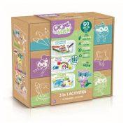 Canal Toys Super Green 3 az 1-ben Kreatív szett (nyomda, színezõ, kifestõ)