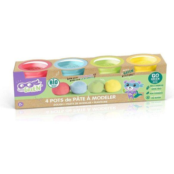 Canal Toys Super Green 4db-os gyurma készlet (piros, kék, zöld, sárga)