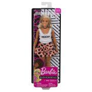 Barbie Fashionistas barátok - Lány baba pöttyös szoknyában (111)