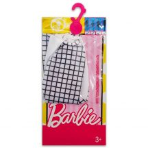 Barbie ruhák: Fekete-fehér kockás ruha