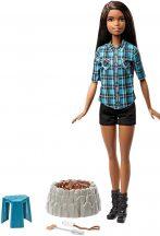 Barbie - Barna bőrű Barbie a tábortűz mellett
