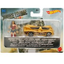 Hot Wheels DC Az igazság ligája mini figurák autóval - WONDER WOMAN