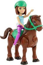 Barbie on the Go - Barna baba motorizált pónival