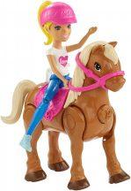Barbie on the Go - Szőke baba motorizált pónival