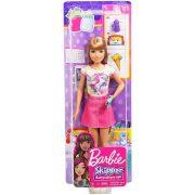 Barbie Skipper Babysitters - Bébiszitter baba rózsaszín szoknyában