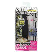 Barbie Minions ruhaszett - Fekete-sárga ruha táskával