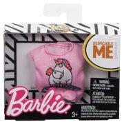 Barbie ruha Minions kollekció - Rózsaszín felső egyszarvú mintával
