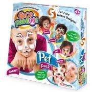Face paintoos arcfestés tetoválás - Házi kedvencek csomag