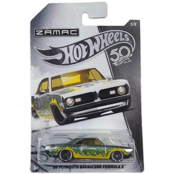 Hot Wheels 50. Születésnapi kisautó - '68 PLYMOUTH BARRACUDA FORMULA S 3/9