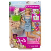 Barbie Állatos napközi szett szőke hajú babával