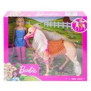 Lovas szett Barbie babával