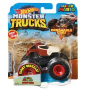 Hot Wheels Monster Trucks játék autó kilapítható autóval - Super Mario Donkey Kong