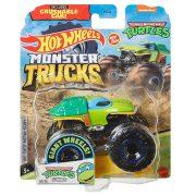 Hot Wheels Monster Trucks játék autó kilapítható autóval - Tini Nindzsa Teknőcök: Leonardo