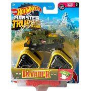 Hot Wheels Monster Trucks játékautó kilapítható gumiautóval - Invader