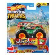 Hot Wheels Monster Trucks játékautó kilapítható gumiautóval - Burger Delivery