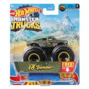 Hot Wheels Monster Trucks játékautó kilapítható gumiautóval - V8 Bomber