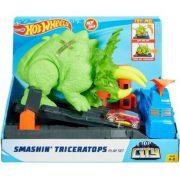 Hot Wheels Triceratops zúzó pályaszett