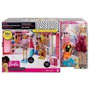 Barbie Fashionistas Álom öltözõszoba szõke hajú babával és kiegészítõkkel