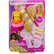Barbie Mesés fürtök fodrász játékszett
