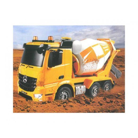FLEG-CAR Távirányítós teherautó 1:20-as méretaránnyal - MERCEDES-BENZ ANTOS BETONKEVERŐ AUTÓ
