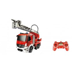 FLEG-CAR Távirányítós teherautó 1:20-as méretaránnyal - MERCEDES-BENZ ANTOS TŰZOLTÓ AUTÓ