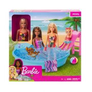 Barbie baba medencével játékszett