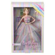 Barbie - Születésnapos Barbie baba szivárványos ruhában