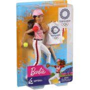 Barbie Tokió 2020 Olimpiai baba - Baseball játékos Barbie (30 cm)
