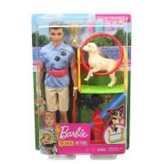 Barbie Karrierbabák - Kutyakiképző Ken baba játékszett