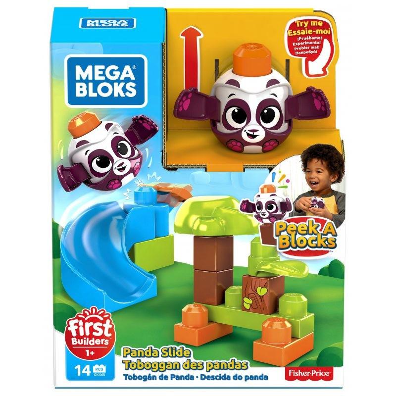 Mega Bloks Peek A Blocks Pandás kukucskocka kilövő