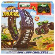 Hot Wheels Monster Truck pályaszett - Hurok pálya 2 db kisautóval