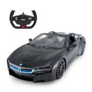 Rastar Távirányítós autó 1:12-es méretaránnyal - BMW I8 Roadster (fekete)
