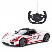 Rastar Távirányítós autó 1:14-es méretaránnyal - Porsche 918 Spyder (fehér)