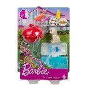 Barbie kerti játékszett kisállattal - Kutyus kerti grillel