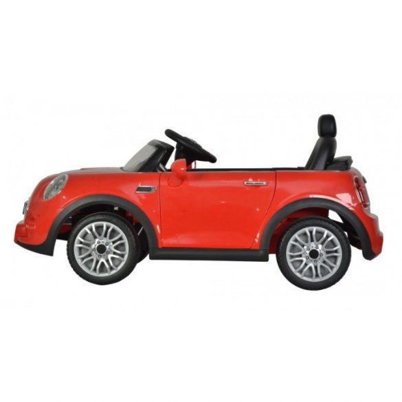 Elektromos beülős kisautó - Mini Cooper Cabrio (piros)
