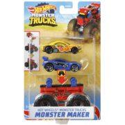 Hot Wheels Monster Trucks Szörnykészítõ - Piros alapszerelvény