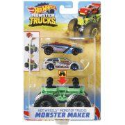 Hot Wheels Monster Trucks Szörnykészítő - Zöld alapszerelvény