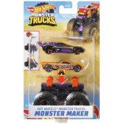 Hot Wheels Monster Trucks Szörnykészítõ - Lila alapszerelvény