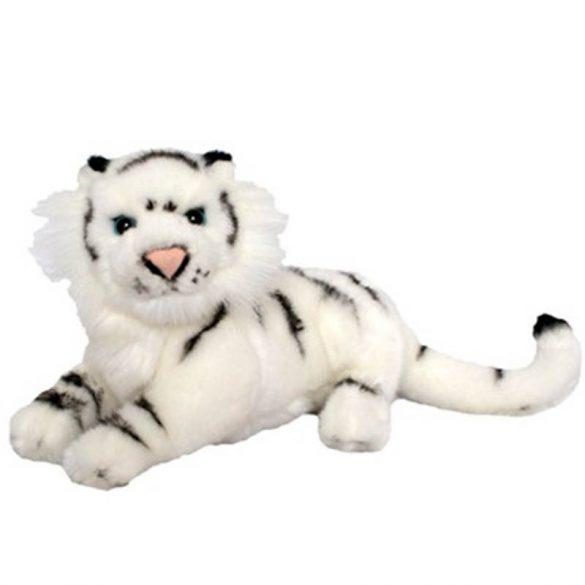 Fekvő fehér tigris 25 cm